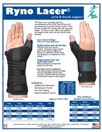 Ryno Lacer Wrist & Thumb Support